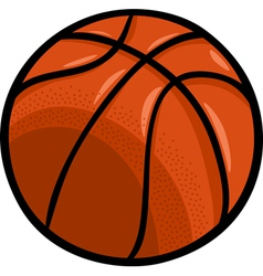 Basketball ball cartoon clip art vector