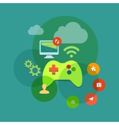 Mobile and console games flat icon vector