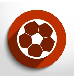 Soccer ball web flat icon vector