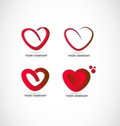 Red heart logo vector