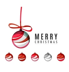 Set of abstract christmas ball icons business vector