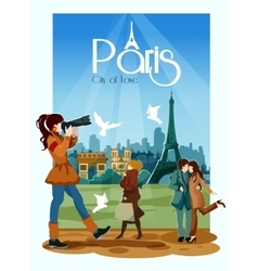 Paris poster vector