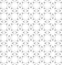 Seamless stylized flowers pattern in oriental vector image