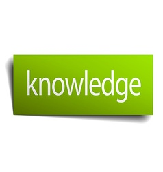 Knowledge green paper sign isolated on white vector