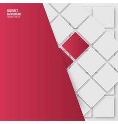 Abstract background squares white vector