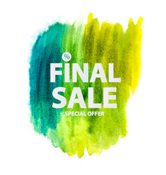 abstract brush stroke designs final sale banner vector image vector image