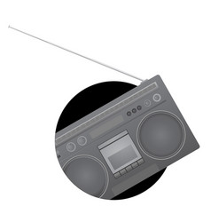 Audio retro icon vector