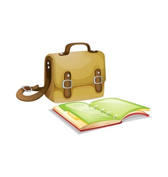 Backpack and journal vector
