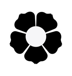 Black silhouette with flower icon vector
