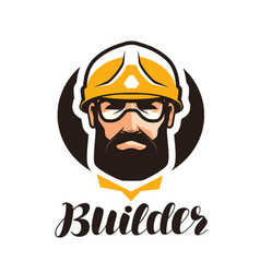 Builder constructor logo industry support vector