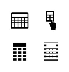 Calculator simple related icons vector