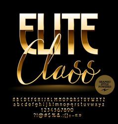 Chic label elite class vector