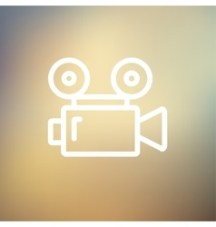 Cinematography thin line icon vector image