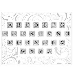 Decorative font vector