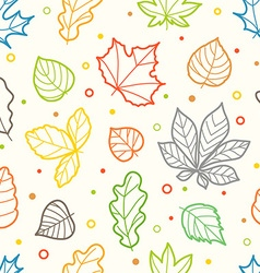 Different color leaves silhouettes seamless vector