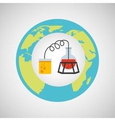 Eco science research process icon vector