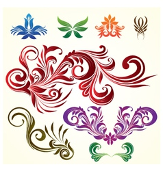Floral Ornamental Elements vector image vector image