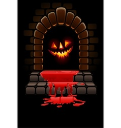 halloween fireplace vector image