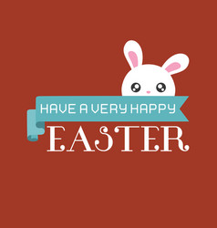 have a very happy easter typographic vector image