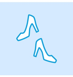 High Heels Shoes Icon Simple Blue vector image