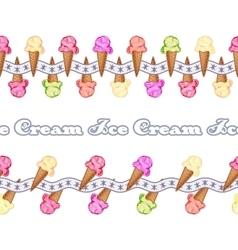 ice cream seamless background vector image