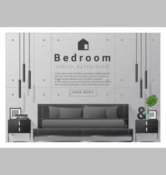 Interior design bedroom background 8 vector
