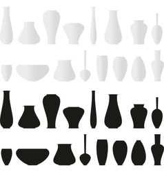 isolated set of vases vector image vector image