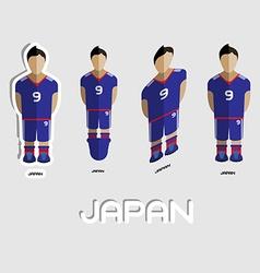 Japan soccer team sportswear template vector