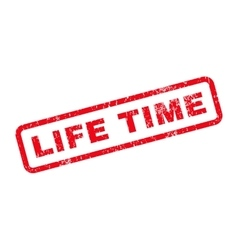 Life time text rubber stamp vector