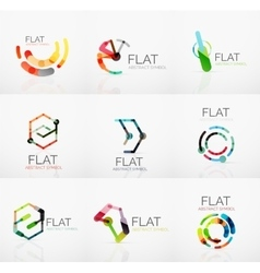 Logo collection - abstract minimalistic linear vector
