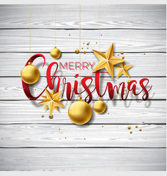 merry christmas on vintage vector image vector image