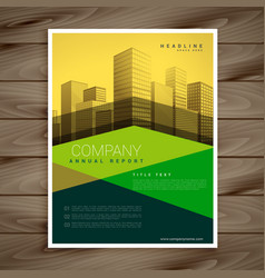 Modern yellow and green business brochure vector