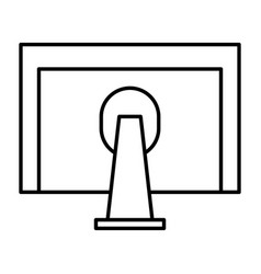 monitor computer desktop icon vector image
