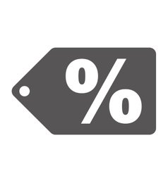 percent label or tag icon image vector image