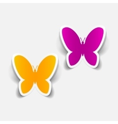 realistic design element butterfly vector image