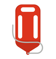 Red life saver vector
