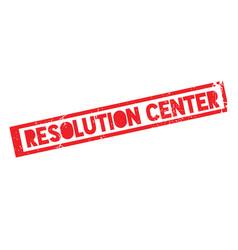 Resolution center rubber stamp vector