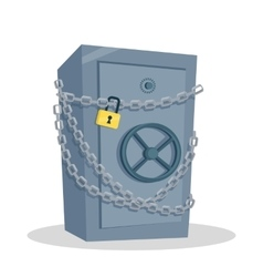 Safe in flat style design vector