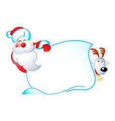 Santa banner vector image vector image