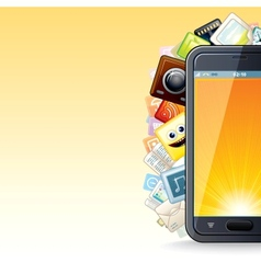 Smart Phone Apps Poster vector image
