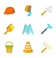 Tools icons set cartoon style vector image