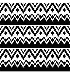 Tribal seamless pattern aztec black and white vector image vector image