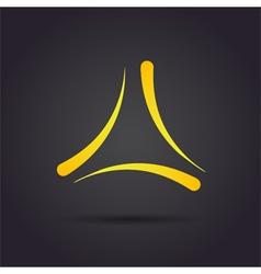 Trigon delta letter sign vector