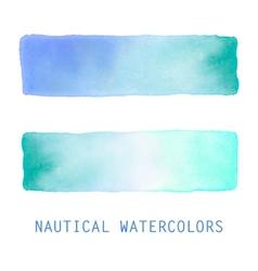 Watercolor banners set vector