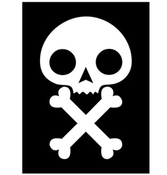 Skull icon black background vector
