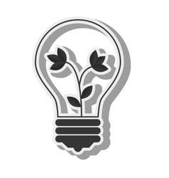 Bulb plant light idea creative design vector