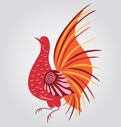 Russian style bird vector