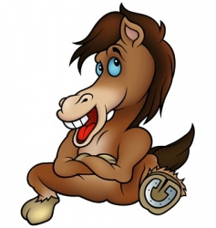 sitting horse vector image