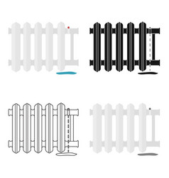 Radiator icon in cartoon style isolated on white vector