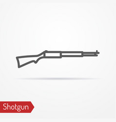 Classic hunter rifle silhouette icon vector